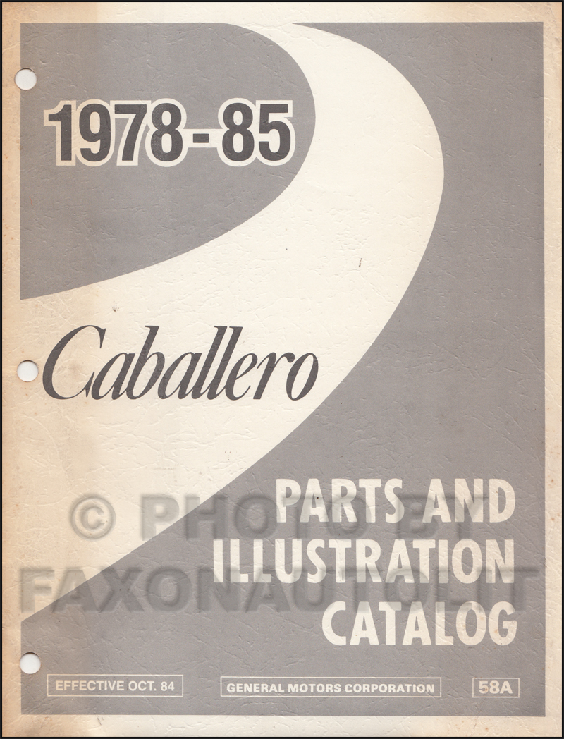 1985 Caballero El Camino Monte Carlo Wiring Diagram Original 1978 Chevrolet Schematic Gmc Parts Book 14400
