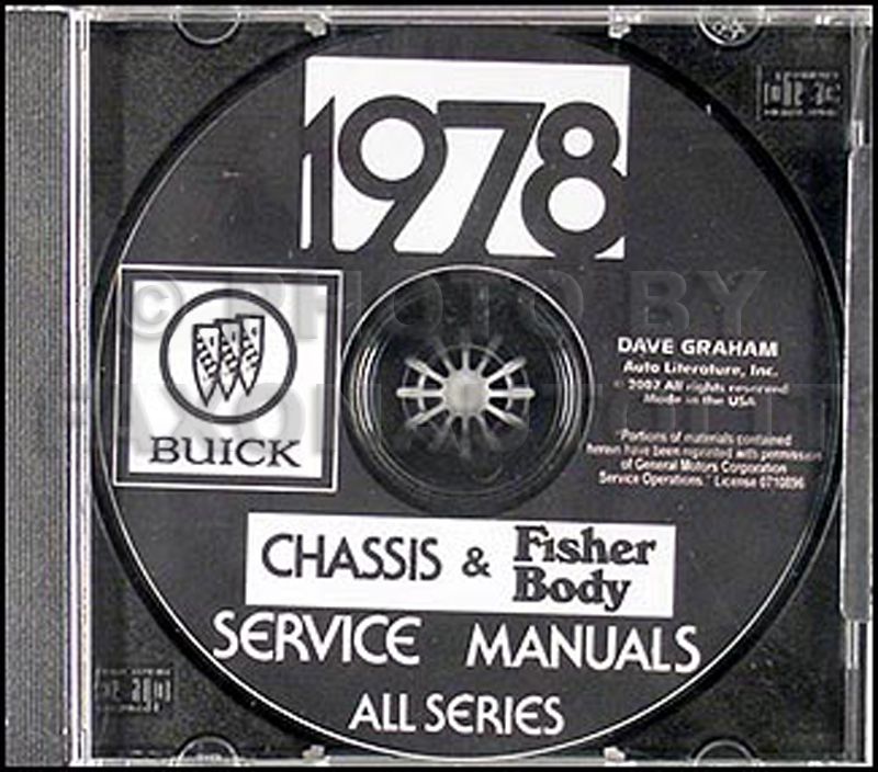 1978 Buick Repair Shop Manual And Body Manual Cd Rom