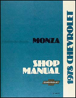 1978 Chevy Monza Repair Manual Original
