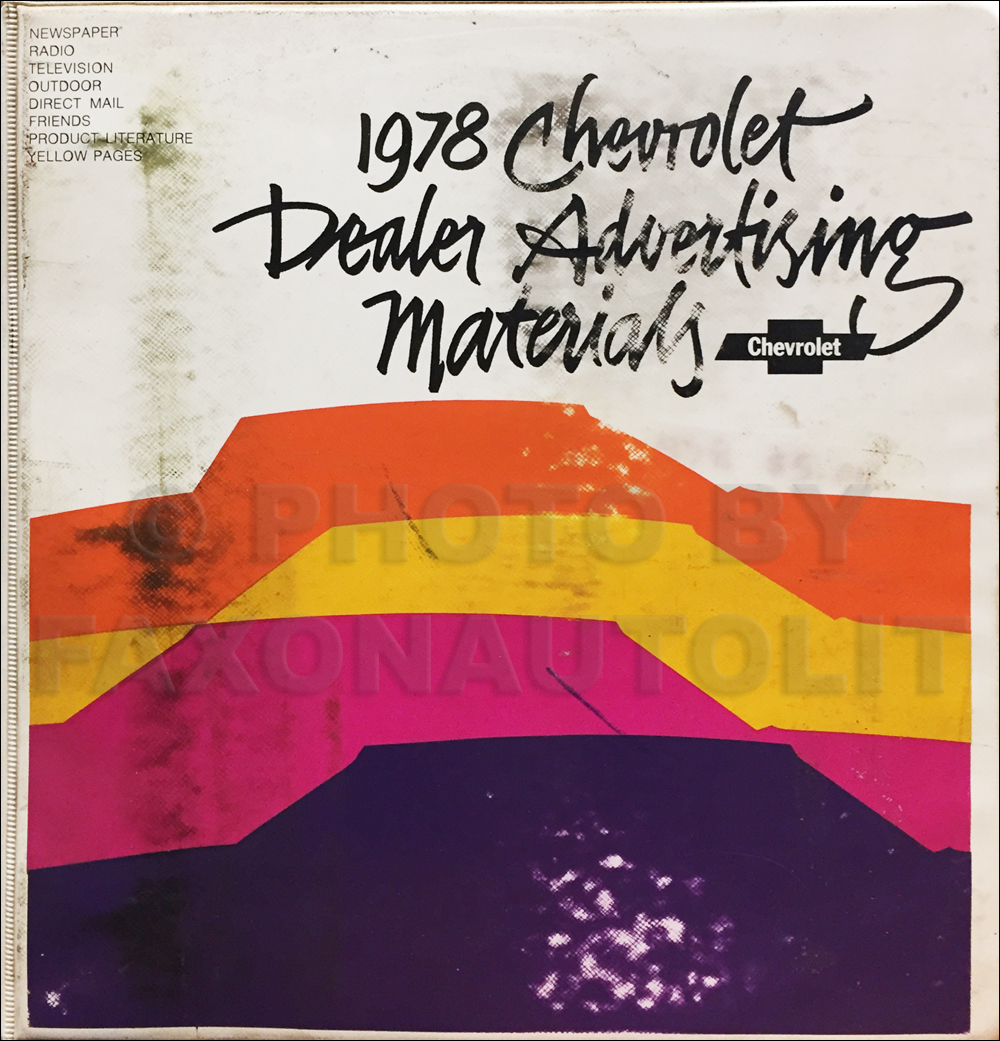 1978 Chevrolet Dealer Advertising Planner Original Album
