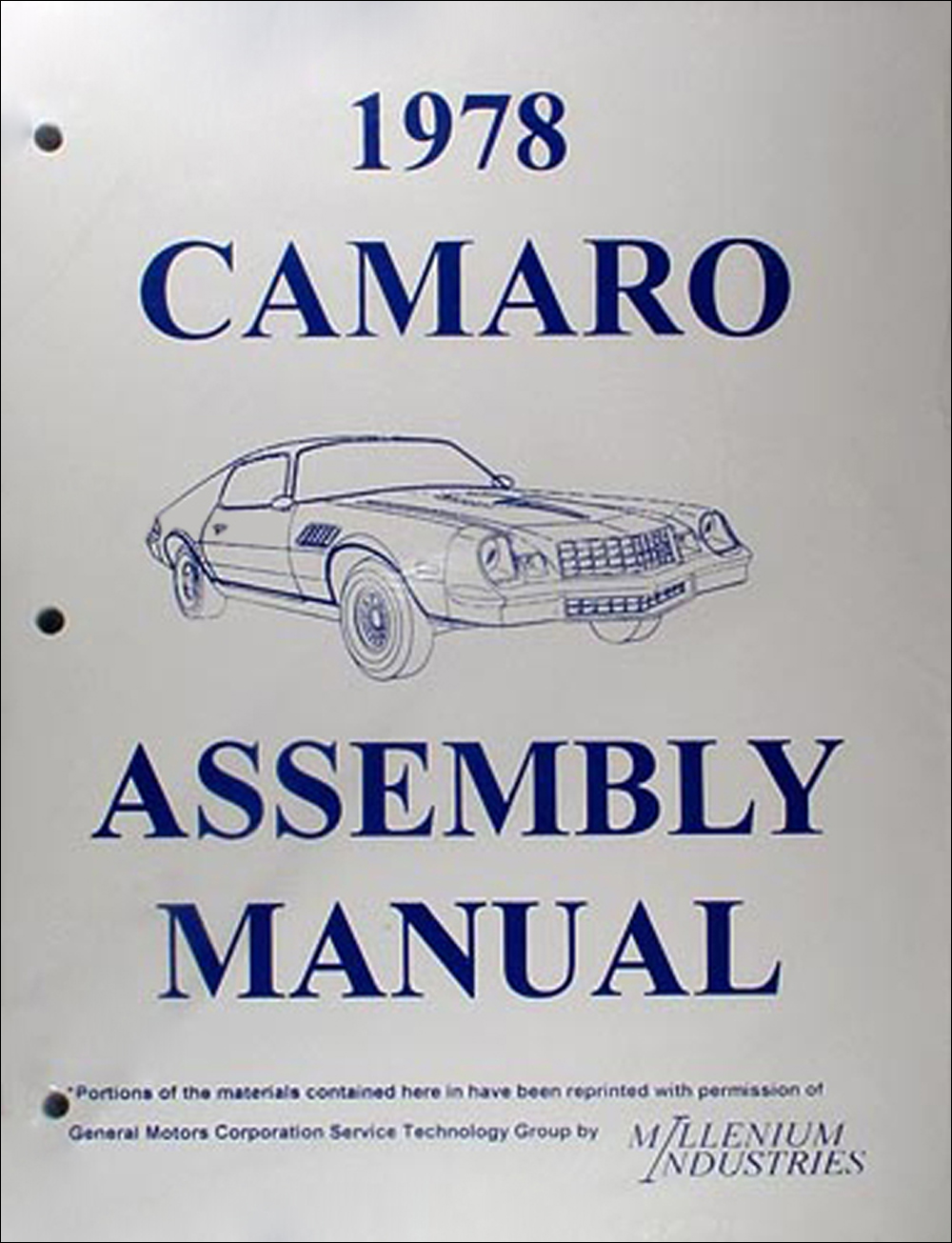 1978 Camaro Factory Assembly Manual Reprint