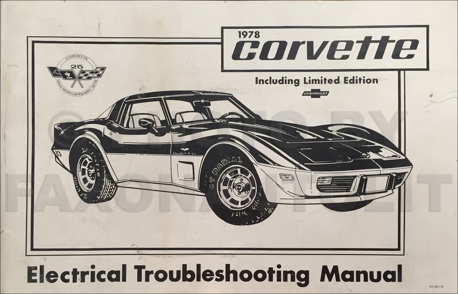 1978 Corvette Electrical Troubleshooting Manual Original