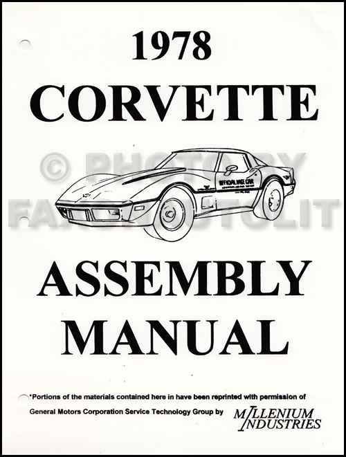 1978 Corvette Factory Assembly Manual Reprint