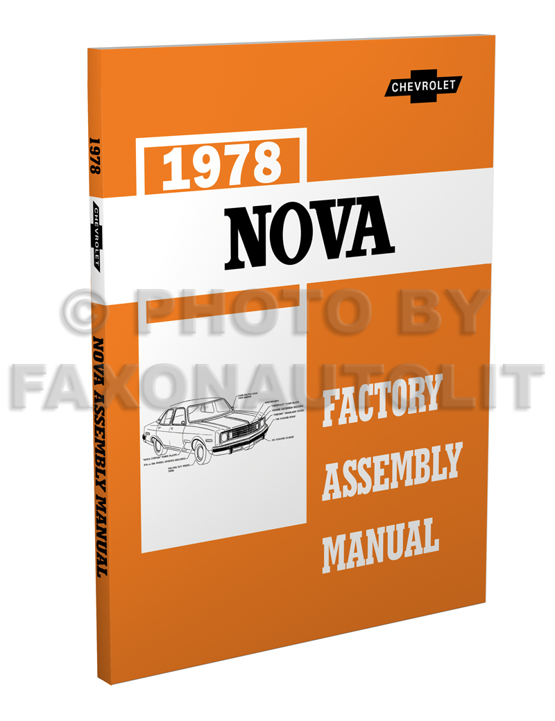 1978 Chevy Repair Shop Manual Original Camaro Chevelle El