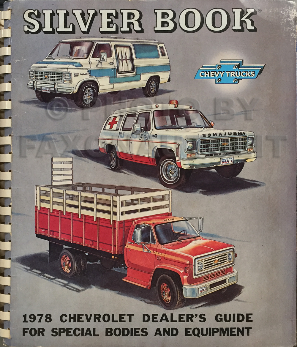 1978 Chevrolet Truck Silver Book Special Equipment Dealer Album