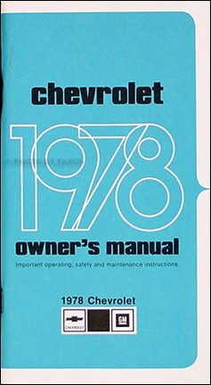 1978 Chevy Impala & Caprice Owner's Manual Reprint