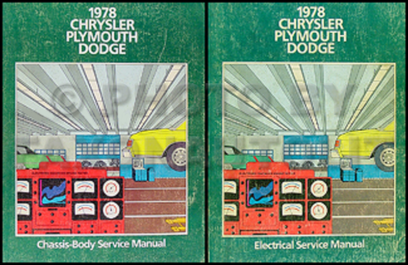 1978 Chrysler Dodge and Plymouth RWD Car Repair Shop Manual 2 Vol Set
