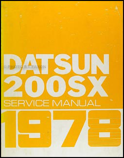 1978 Datsun 200SX Repair Manual Original