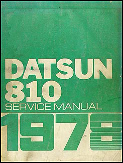 1978 Datsun 810 Repair Manual Original