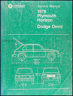 1978 Omni, Horizon, TC3 Repair Manual Original