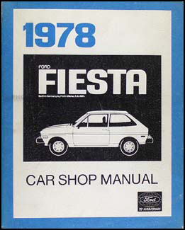 1978 Ford Fiesta Repair Manual Original