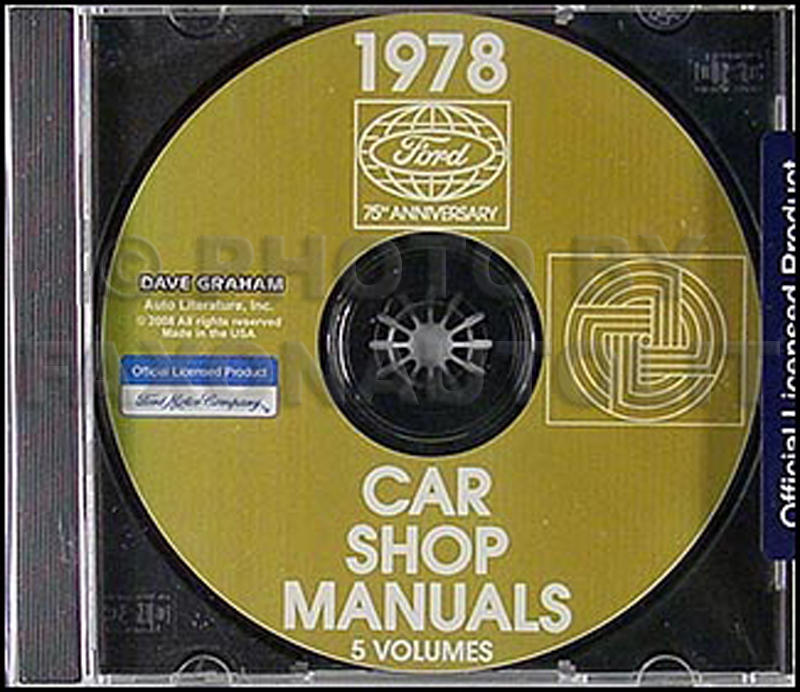 1978 Ford, Lincoln and Mercury CD-ROM Shop Manual for all cars 78