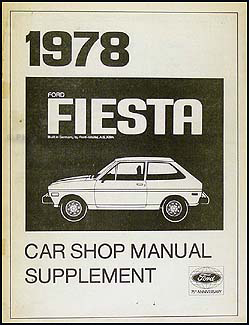 1978 Ford Fiesta Engine Diagnosis Manual Original Supplement