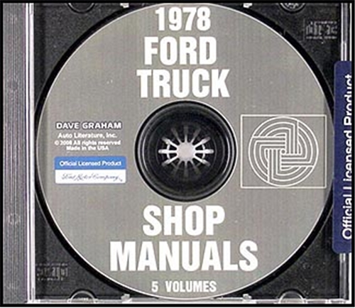 1978 Ford Truck Repair Shop Manual CD ROM for Pickup Bronco Van & Big trucks
