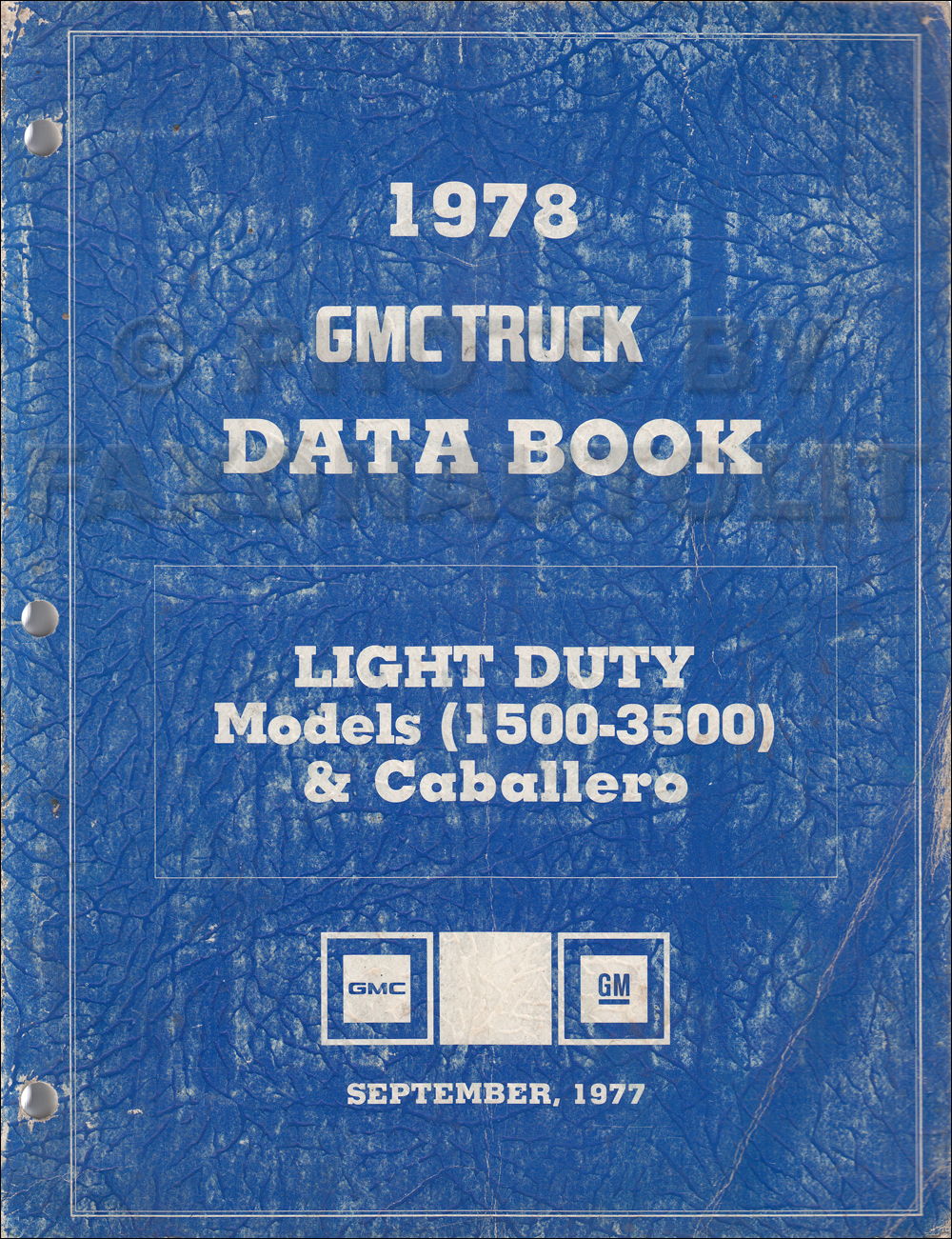 1978 Chevy El Camino Gmc Caballero Wiring Diagram Original Chevrolet Schematic Light Duty Data Book