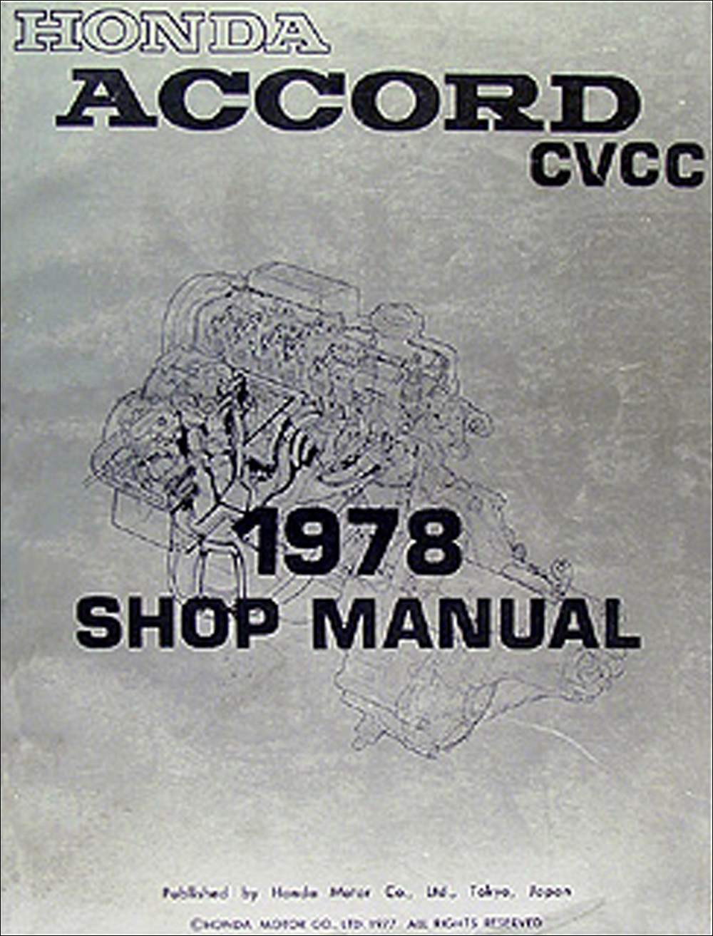1978 Honda Accord CVCC Repair Manual Original