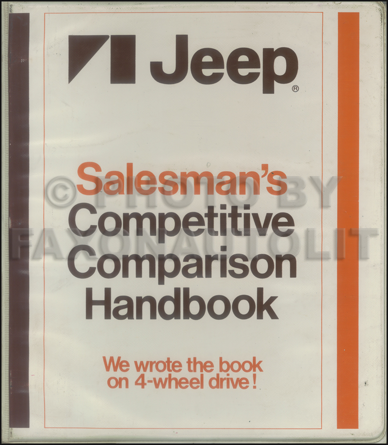 1978 Jeep Competitive Comparison Dealer Album Original