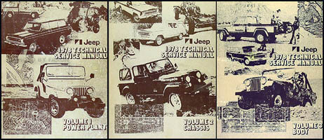 1978 Jeep Shop Manual Original - All models 3 Volume Set