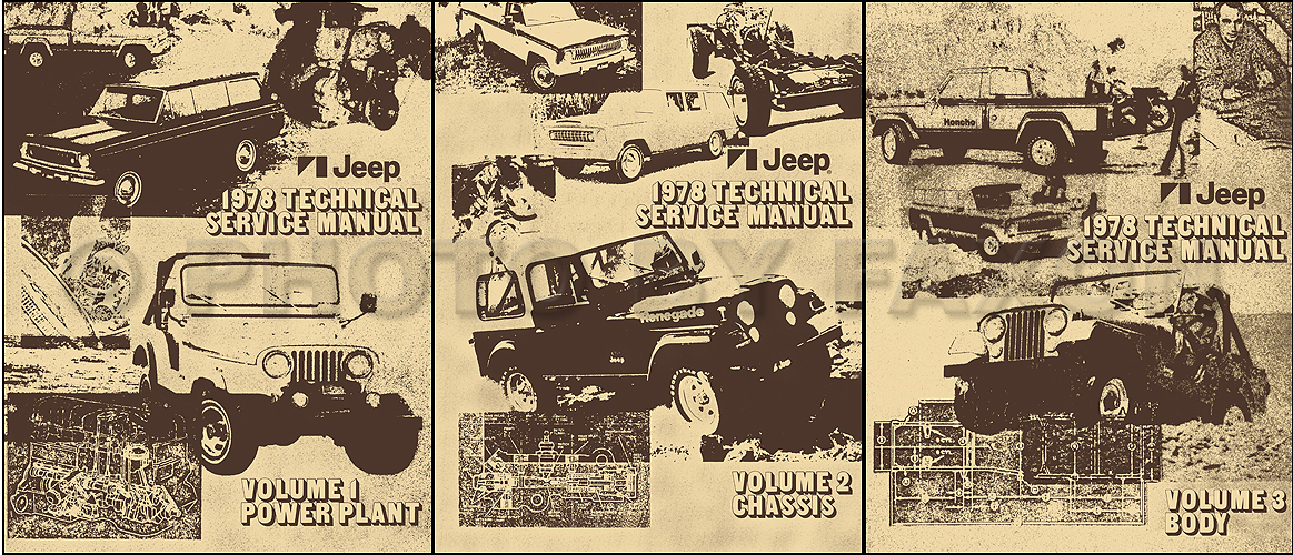 1978 Jeep Shop Manual Reprint- All models 3 Volume Set