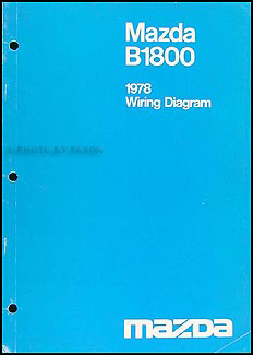 1978 Mazda B1800 Original Wiring Diagram
