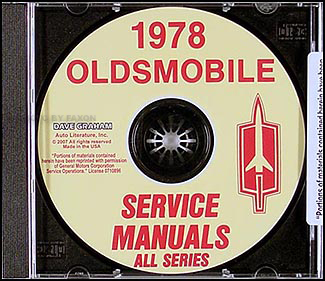 1978 Oldsmobile CD-ROM Shop Manual