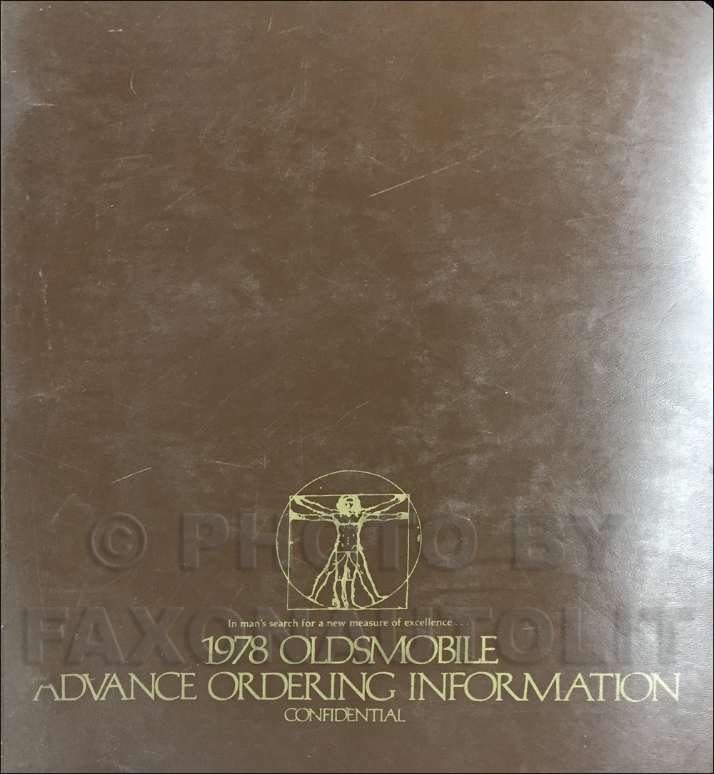 1978 Oldsmobile Advance Ordering Guide Original