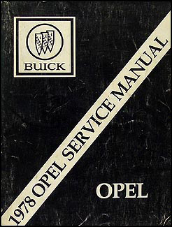 1978 Opel Repair Manual Original