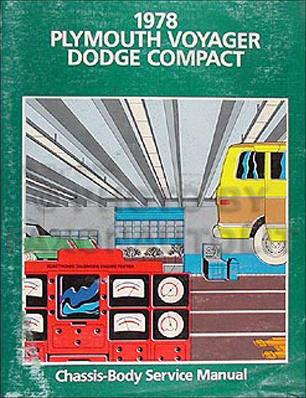 1978 Dodge Plymouth Van Repair Manual Original Compact, Voyager