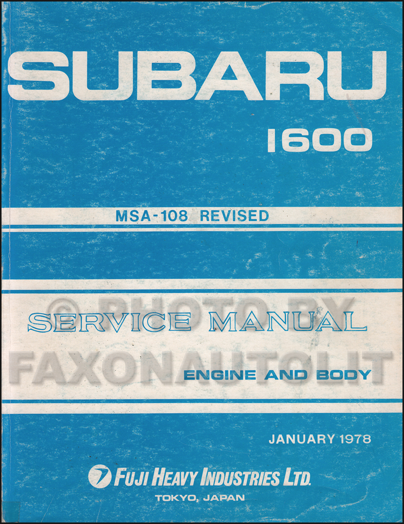 1978 1984 Subaru 1600 1800 Bentley Repair Shop Manual Wiring Diagram Related Products