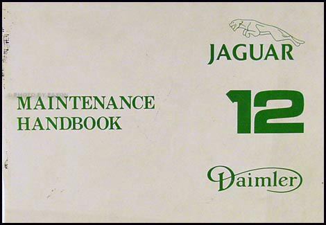1979-1980 Jaguar XJ12 Series 3 Maintenance Handbook Original