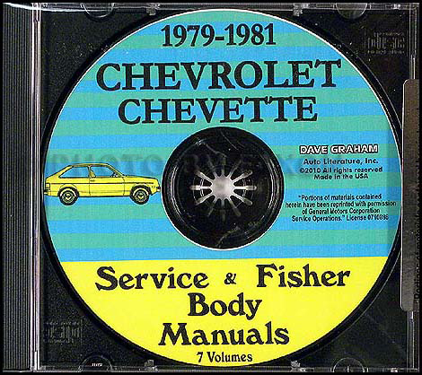 1979-1981 Chevrolet Chevette Shop Manuals on CD