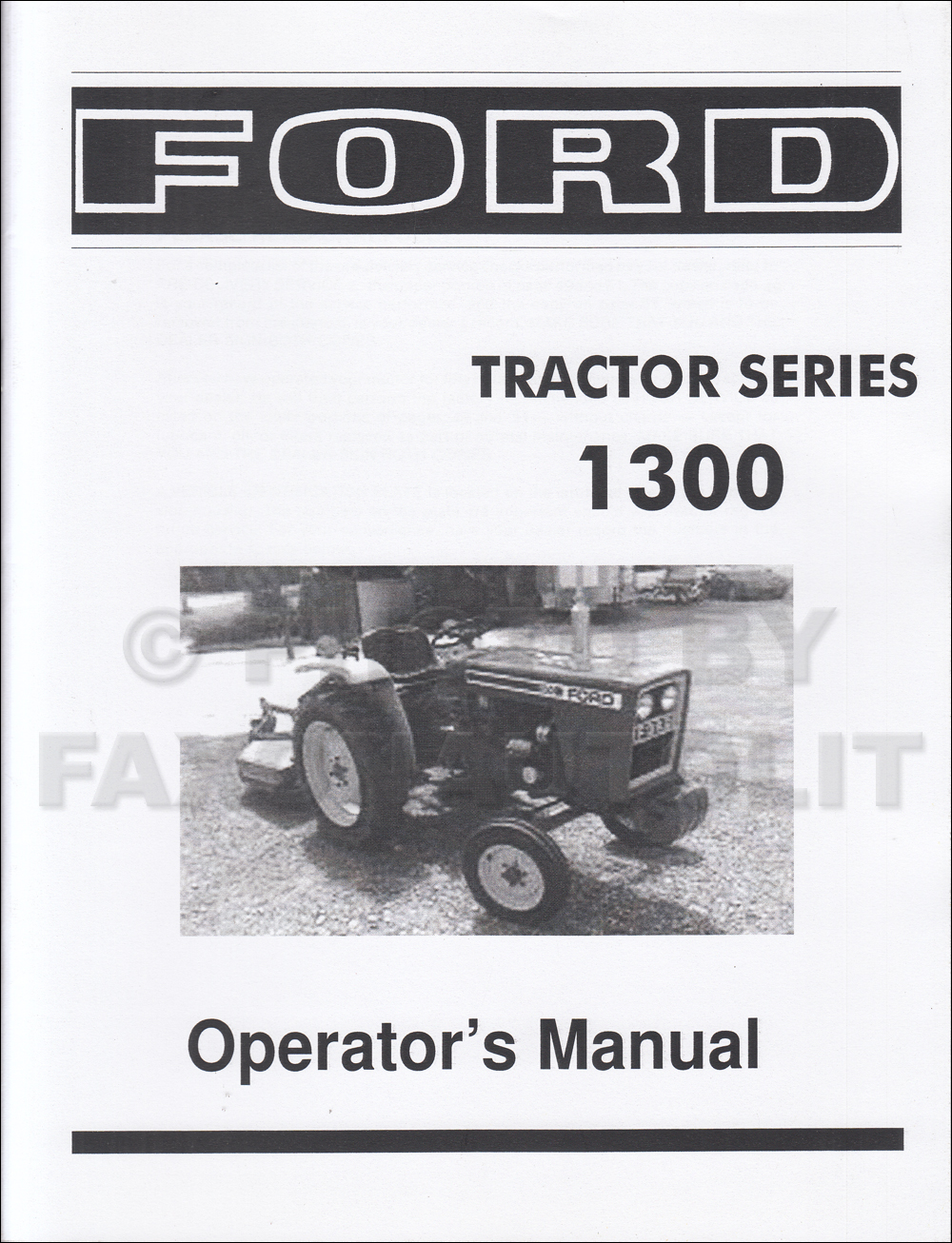 1979-1982 Ford 1300 Series Tractor Owner's Manual Reprint Diesel