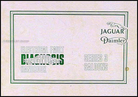 1979-1982 Jaguar Series 3 Electrical Diagnosis Manual