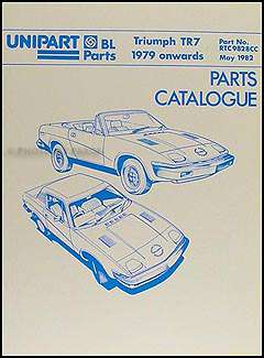 1979-1982 Triumph TR7 Parts Book Reprint