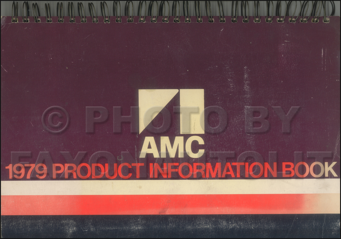 1979 AMC Color and Upholstery Album Original AMX Concorde Pacer Spirit