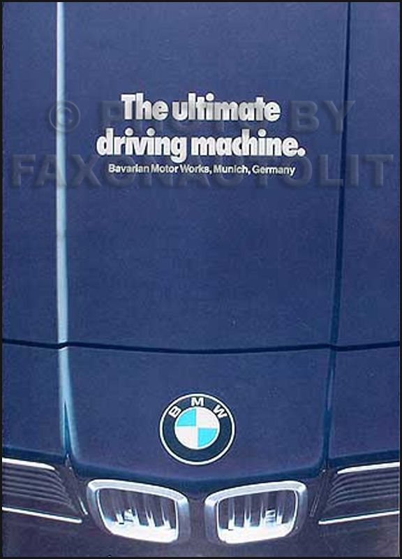 1979 BMW Sales Catalog Original--733i 320i 528i 633CSi