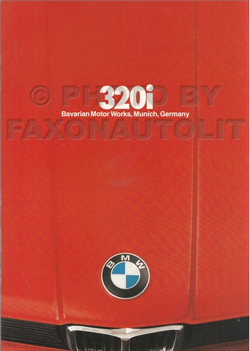1979 BMW 320i Sales Brochure Original