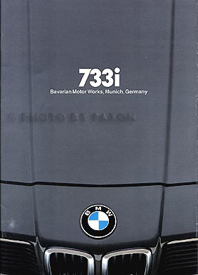 1979 BMW 733i Sales Brochure Original
