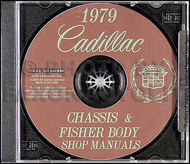 1979 Cadillac Shop Manual and Body Manual on CD-ROM
