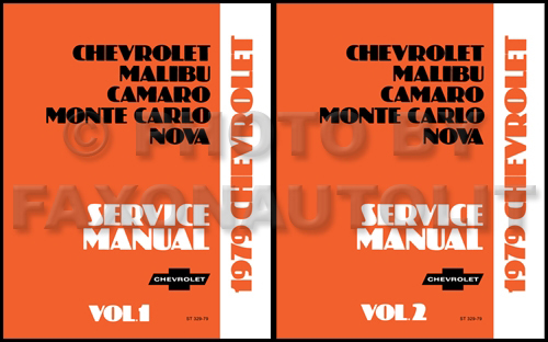 1979 Chevy Car Repair Shop Manual Reprint