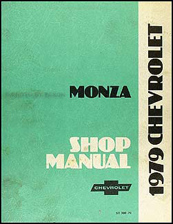 1979 Chevy Monza Repair Manual Original