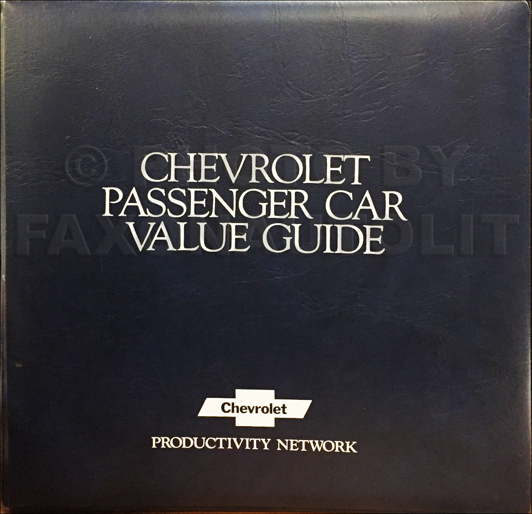 1979 Chevrolet Car Color & Upholstery Dealer Album/Data Book Original