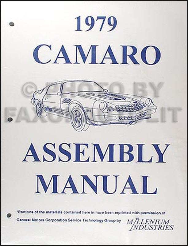 1979 Camaro Factory Assembly Manual Reprint