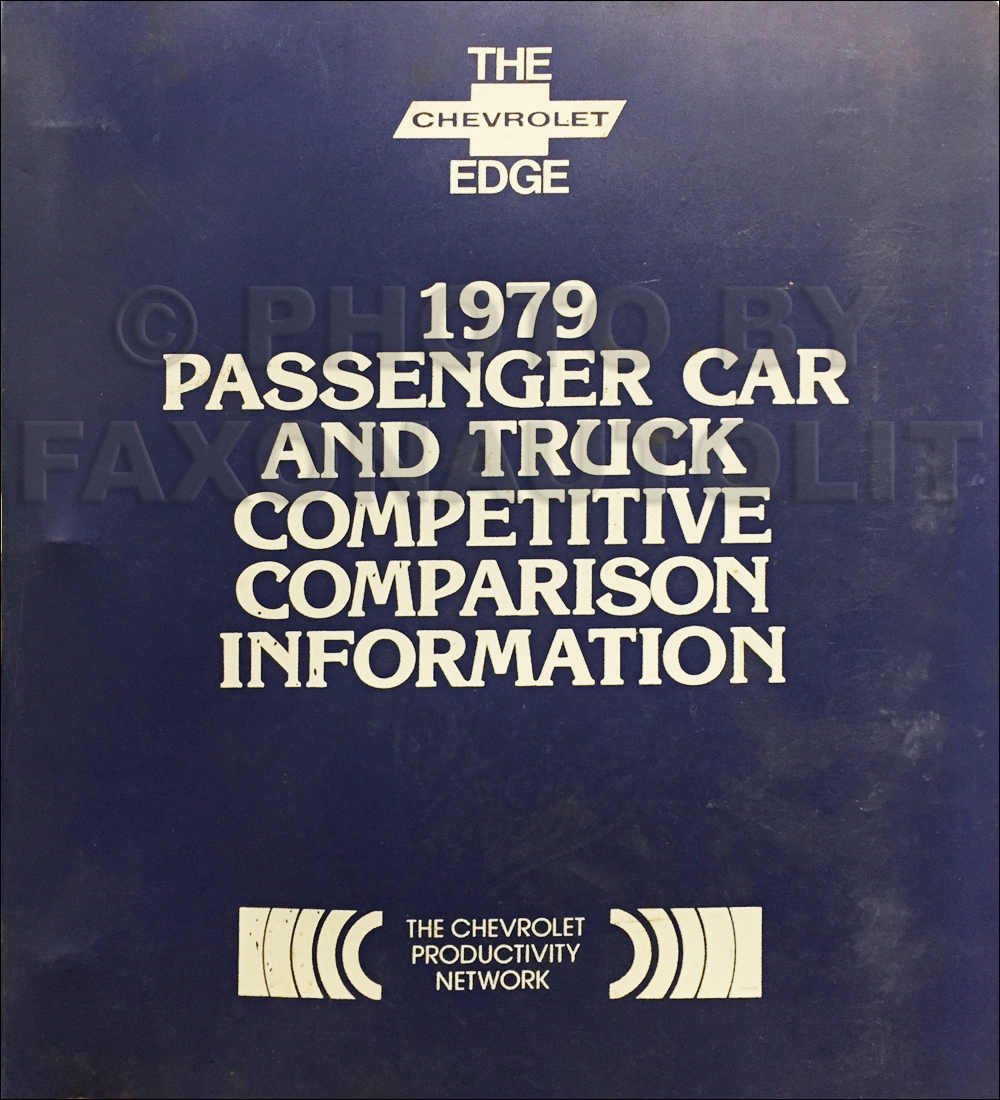 1979 Chevrolet Car Competitive Comparison Dealer Album Original