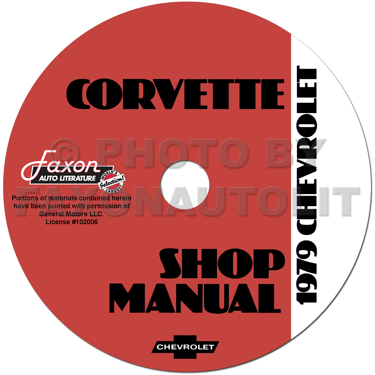 1979 Corvette Shop Manual Original