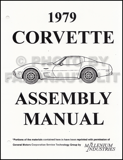 1979 Corvette Factory Assembly Manual Reprint