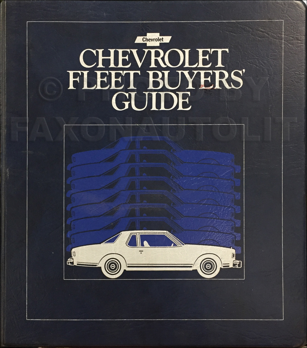 1979 Chevrolet Fleet Buyer's Guide Dealer Album Original