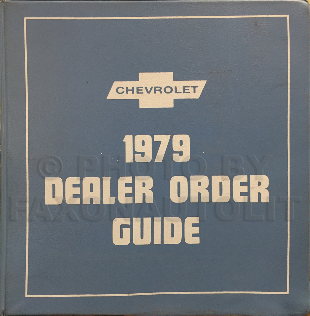 1979 Chevrolet Dealer Order Guide Original Album