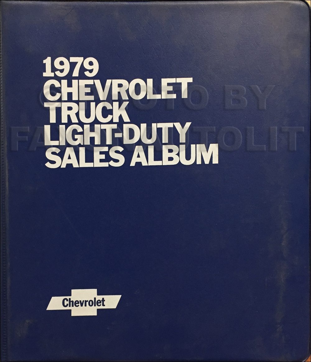 1979 Chevrolet Light Truck Sales Album Original