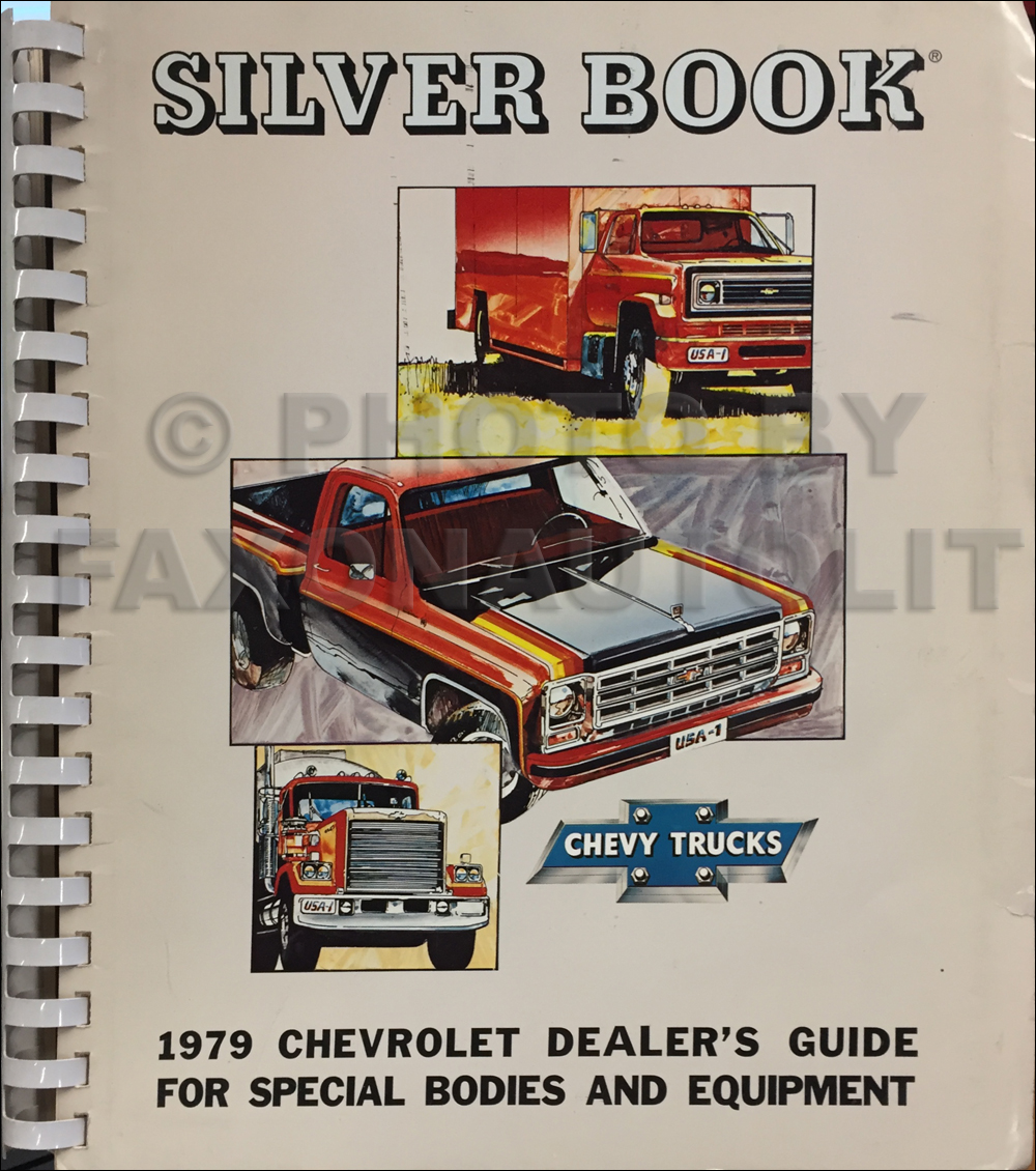 1979 Chevrolet Truck Silver Book Special Equipment Dealer Album